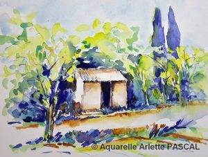 Arlette PASCAL Petit cabanon (Visioateliers)