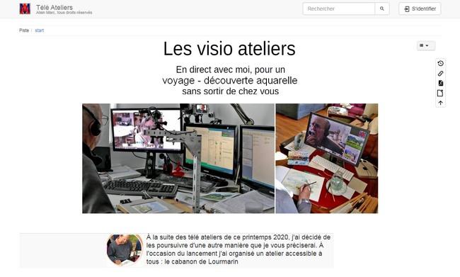 Accès à la page d'accueil du Wiki des téléateliers d'Alain MARC