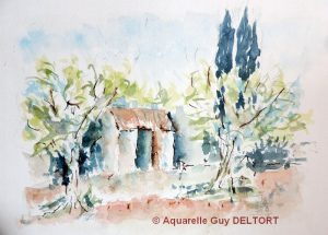 Guy DELTORT Petit cabanon (Visioateliers)