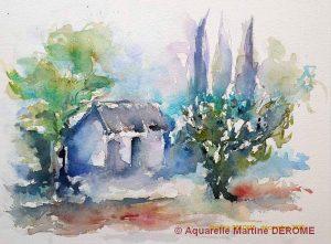 Martine DEROME Petit cabanon (Visioateliers)