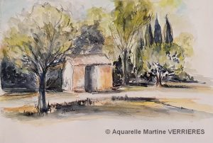 Martine VERRIERES Petit cabanon (Visioateliers)