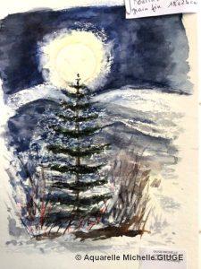 Michelle GIUGE Clair de lune à la cire (Visioateliers)