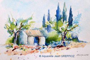 Jean GREFFIOZ Petit cabanon (Visioateliers)