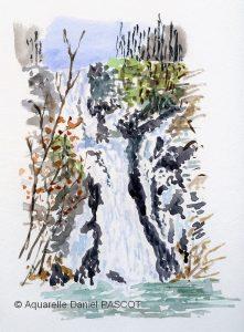 Daniel PASCOT  Cascade en hiver (Visioateliers)