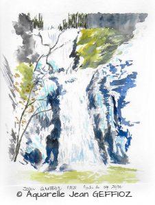 Jean GREFFIOZ Cascade en hiver (Visioateliers)