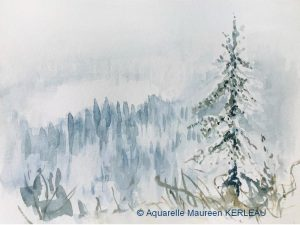 Maureen KERLEAU Paysage d'hiver (Visioateliers)
