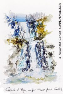 Carole SONNENDRUCHER Cascade en hiver (Visioateliers)