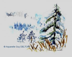 Guy DELTORT Paysage d'hiver (Visioateliers)