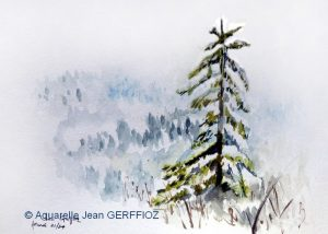 Jean GREFFIOZ Paysage d'hiver (Visioateliers)