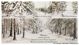 Martine PAOLILLO Randonnée hivernale (Visioateliers)