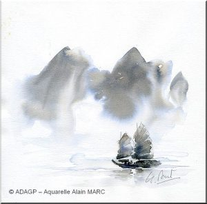 En baie d'Ha Long - Alain MARC -
